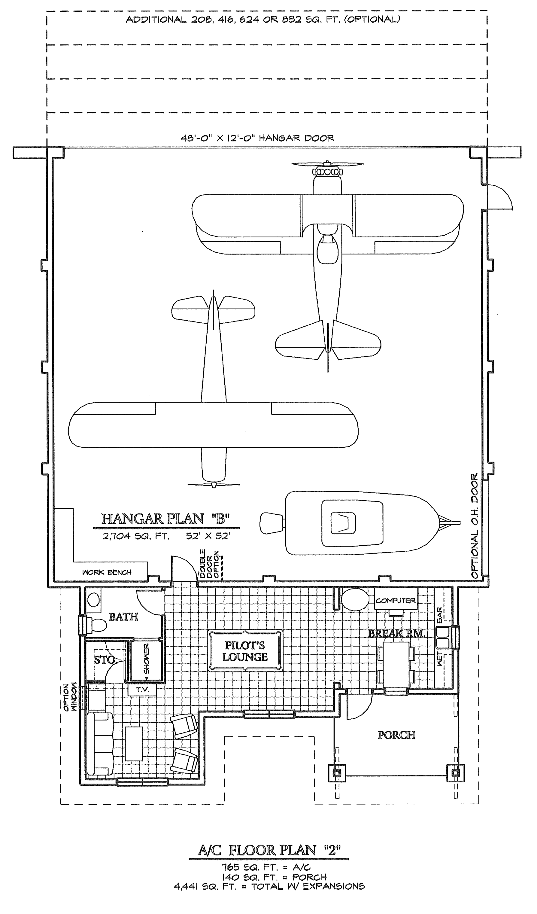 Airplane hangar blueprints pictures to pin on pinterest for Hangar home designs